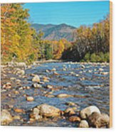 Sunrise Over The Saco Vertical Wood Print by Geoffrey Bolte