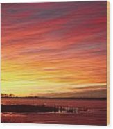 Sunrise Over Union Reservoir In Longmont Colorado Boulder County Wood Print