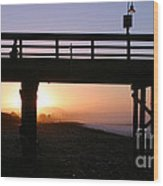 Sunrise Pier Ventura Wood Print by Henrik Lehnerer
