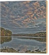 Sunrise Putnam Lake Wood Print