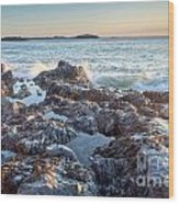 Sunrise Rocks Wood Print