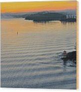Sunrise Ryssmasterna Lighthouse Sweden Wood Print