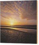 Sunrise, Sandymount Strand Dun Wood Print