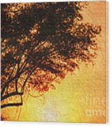 Sunrise Silhouette Wood Print