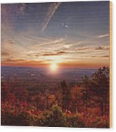Sunrise-talimena Scenic Drive Arkansas Wood Print by Douglas Barnard