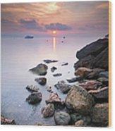 Sunrise To Théoule Sur Mer Wood Print