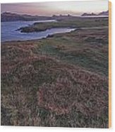 Sunrise View Of Clogher Beach Wood Print