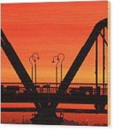 Sunrise Walnut Street Bridge Wood Print