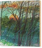 Sun's Edge Wood Print