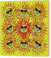 Suns Party Wood Print