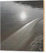 Sun's Reflection Wood Print