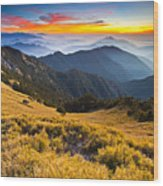 Sunset , Hehuan Mountain , Taroko National Park , Wood Print