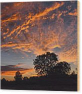 Sunset 07 26 12 Wood Print