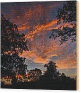 Sunset 07 26 12 Two Wood Print