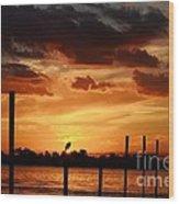 Sunset 1-1-12 Wood Print by Lynda Dawson-Youngclaus