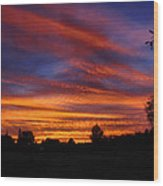 Sunset 2   09 22 12 Wood Print