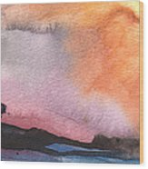 Sunset 36 Wood Print
