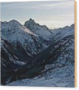 Sunset About St. Anton Wood Print