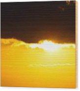 Sunset And Cloud At Sea Wood Print