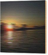 Sunset Art 1 Wood Print