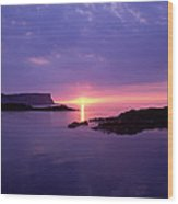 Sunset At Benbane Head On The North Wood Print