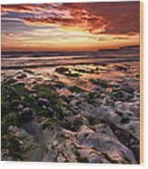 Sunset At Birling Gap Wood Print