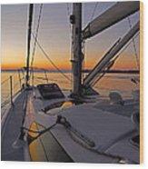Sunset At Burlington Harbour ... Wood Print