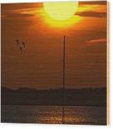 Sunset At Cape Cod Wood Print