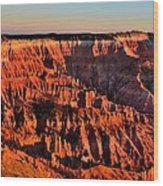 Sunset At Cedar Breaks Wood Print