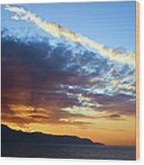 Sunset At Costa Del Sol Wood Print