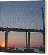 Sunset At Dartford Bridge Wood Print