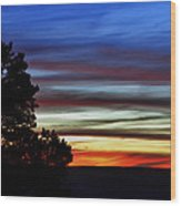 Sunset At Desert View Along The Grand Canyon Wood Print