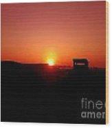 Sunset At Ferrara Wood Print