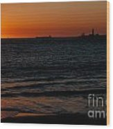 Sunset At Freemantle Wood Print
