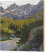 Sunset At Mack Lake Wood Print