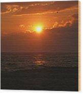 Sunset At Madaket Beach - Nantucket Wood Print