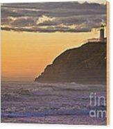 Sunset At North Head II Wood Print