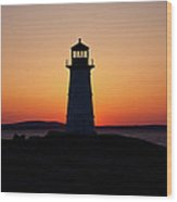 Sunset At Peggy's Cove Wood Print