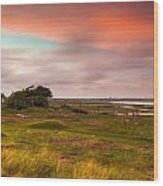 Sunset At Pointe D''agon Wood Print