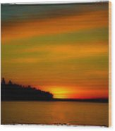 Sunset At Redondo Wood Print