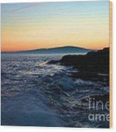 Sunset At Schoodic Wood Print