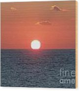 Sunset At Sea Wood Print by Marilyn West