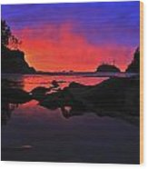 Sunset At Sunset Bay Wood Print