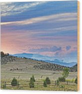 Sunset At The Colorado High Park Wildfire  Wood Print