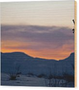 Sunset At White Sands Wood Print