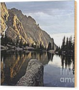 Sunset At Willow Lake Wood Print by Scotts Scapes