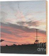 Sunset Battleship Wood Print
