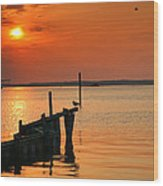 Sunset Bay V Wood Print