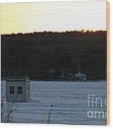 Sunset Bob Wood Print