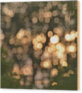 Sunset Bokeh  Wood Print